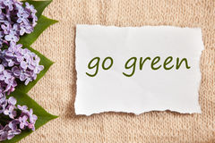 Go green concept on old style beautiful background Stock Image