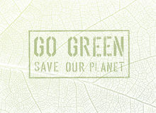 Go Green Concept Poster Design Stock Photos