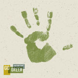 Go Green Concept Poster. Royalty Free Stock Photography