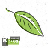 Go Green Concept Poster With Leaf Symbol Royalty Free Stock Photography
