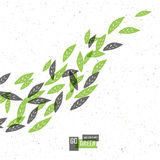 Go Green Concept Poster With Leaves. Stock Photography