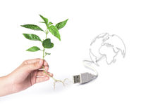 Go green concept. Save world. Royalty Free Stock Photography