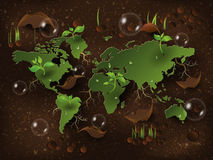 Go green concept. Save world vector Illustration. Stock Photography