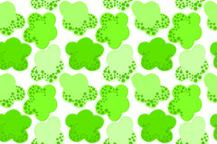 Go green concept seamless background. Green clouds floating. Seamless background Stock Images