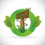Go green design Stock Images