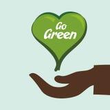 Go green design Stock Photos