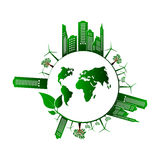 Go green design template. Environment vector illustration Stock Images