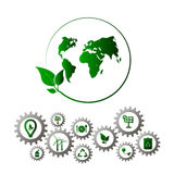 Go green design template. Environment vector illustration Royalty Free Stock Images