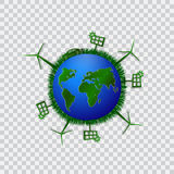 Go green design template. Environment vector illustration. Stock Images