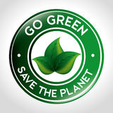 Go green design. Royalty Free Stock Image