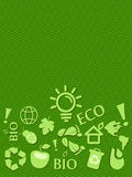Go Green Eco Card With Place for Text Stock Images