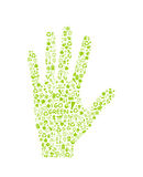 Go green eco pattern on hand palm Stock Photo
