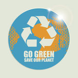Go Green Eco Recycling Concept Royalty Free Stock Images