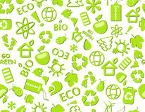 Go Green Eco Seamless Pattern Royalty Free Stock Images