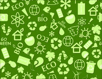 Go green eco seamless pattern Royalty Free Stock Photo