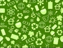 Go green eco seamless pattern Royalty Free Stock Photo