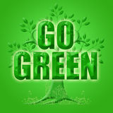 Go Green with Eco Tree and Planet Stock Images