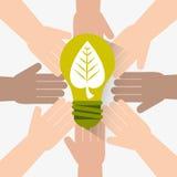 Go green ecology design. Stock Photos