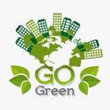 Go green ecology design. Stock Image
