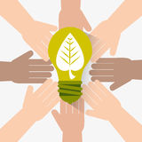 Go green ecology design. Stock Images