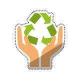 Go green ecology Stock Photo