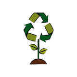 Go green ecology Stock Photography