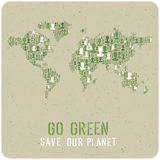 Go Green. Ecology Poster Concept. Vector. Stock Image