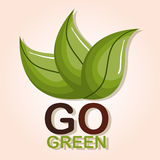 go green ecology poster Stock Image