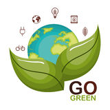 go green ecology poster Stock Photography