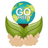 go green ecology poster Stock Photo