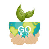 go green ecology poster Royalty Free Stock Photos