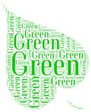GO GREEN ECOLOGY. Word cloud go green ecology environment natural concept Stock Photo