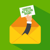 Go green email icon Stock Photography