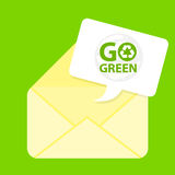 Go green email icon Royalty Free Stock Photography