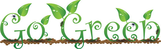 Go Green Environment Words Royalty Free Stock Images