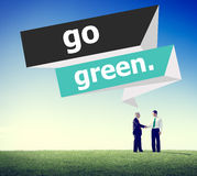 Go Green Environmental Conservation Business Concept Stock Photos