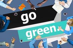 Go Green Environmental Conservation Business Concept Stock Photos