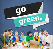 Go Green Environmental Conservation Business Concept Stock Image