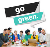 Go Green Environmental Conservation Business Concept Royalty Free Stock Photos