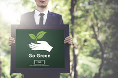 Go Green Environmental Conservation Sustainability Nature Concep Royalty Free Stock Photo