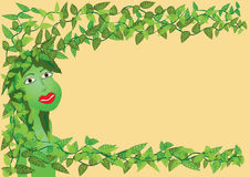 Go green. Green faced girl with leafs as her hair Royalty Free Stock Image