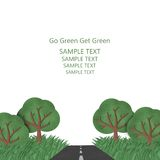 Go Green get Green. Road forward to the future plant more tree, save the world concept Royalty Free Stock Photography