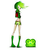 Go Green Girl Royalty Free Stock Photography