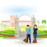 Go Green Go Clean Royalty Free Stock Image