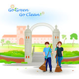 Go Green Go Clean Royalty Free Stock Images