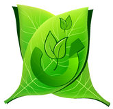 Go green go eco. A illustration of green and eco symbol Stock Photo
