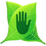 Go green go eco. A illustration of green and eco symbol Royalty Free Stock Image