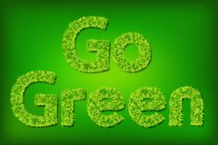 Go Green Grass Stock Photography
