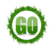 Go green grass concept illustration design Royalty Free Stock Photo