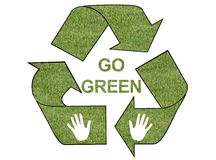Go green grass logo Stock Photos